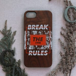 iPhone 7/8/SE 2020 bagside i træ, Break the rules