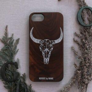 iPhone 7/8/SE 2020 bagside i træ, Kvæg kranie