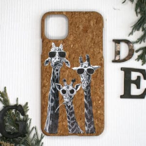 iPhone 11 bagside i kork, Giraf