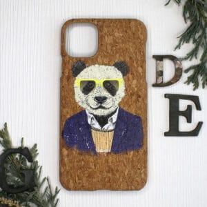 iPhone 11 bagside i kork, Panda