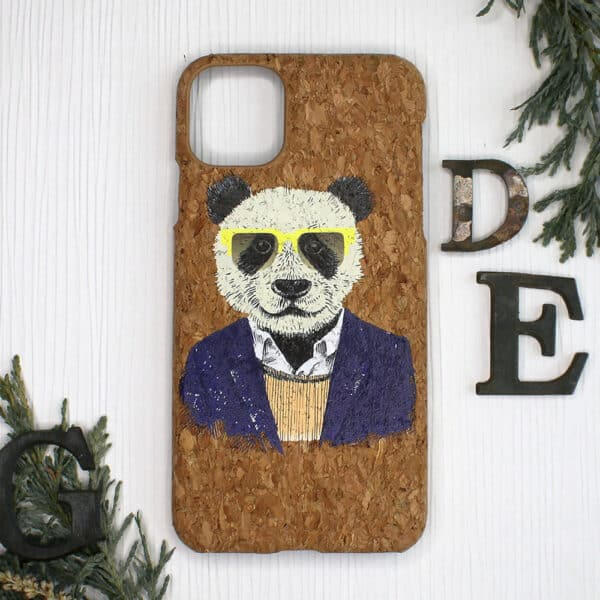 iPhone 11 Pro Max bagside i kork, Panda