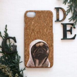 iPhone 7/8/SE 2020 bagside i kork, Hund