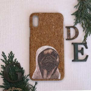 iPhone X/XS bagside i kork, Hund
