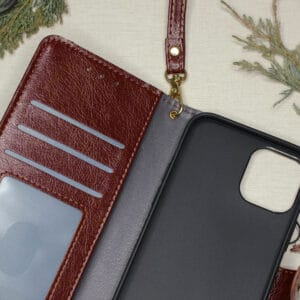 iPhone 12 Pro Max - Brun Flipcover