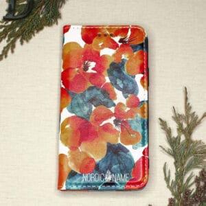 iPhone 12 Mini - Orange Blomster