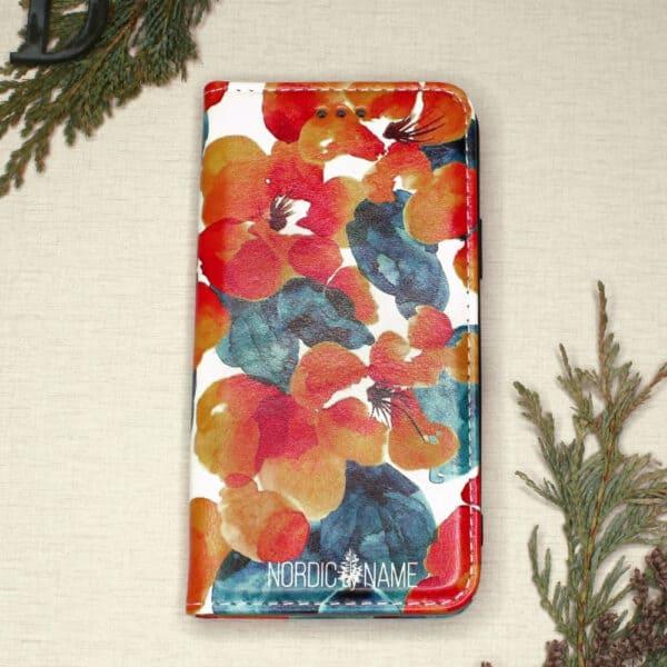 iPhone 12 Pro Max - Orange Blomster
