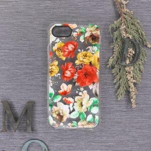 iPhone 7/8/SE 2020 Transparent, Blomster, Stødsikre