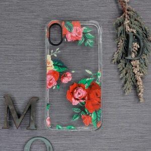 iPhone XR Transparent, Roser, Stødsikre