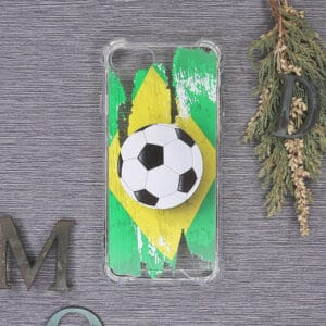 iPhone 7/8/SE 2020 Transparent, Fodbold, Stødsikre