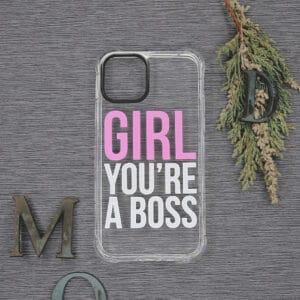 iPhone 11 Pro Transparent, Girl You're a Boss, Stødsikre