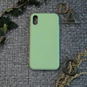 iPhone X/XS bagside silikone, Grøn