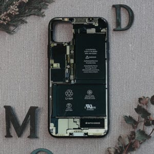 iPhone 11 Pro bagside i glas, Indmad, sort