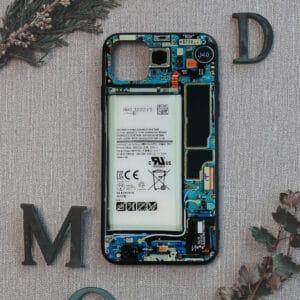 iPhone 11 bagside i glas, Indmad, turkis