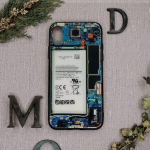 iPhone X/XS bagside i glas, indmad farvet