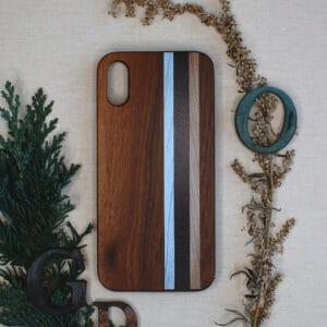 iPhone X/XS bagside i træ, Striber