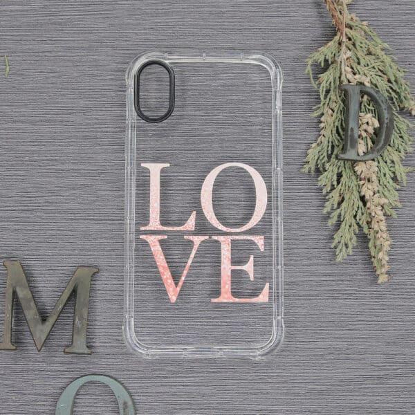 iPhone X/XS Transparent, Love, Stødsikre