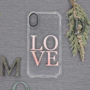 iPhone XR Transparent, Love, Stødsikre