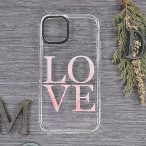 iPhone 11 Transparent, Love, Stødsikre