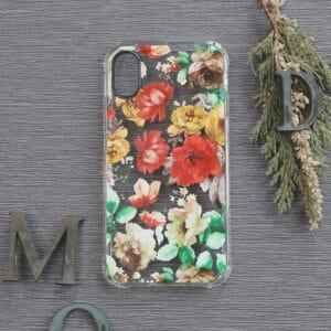 iPhone XR Transparent, Blomster, Stødsikre