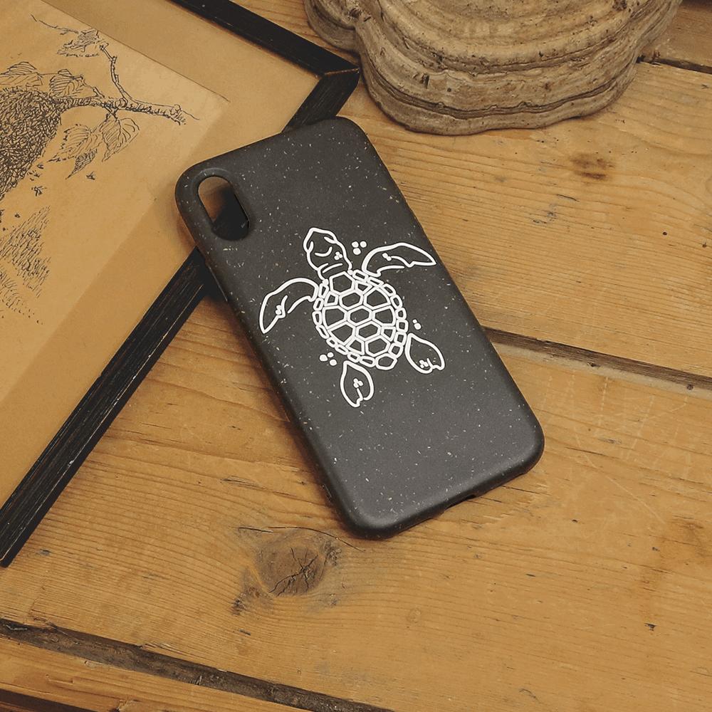 iPhone X/XS - Skildpadde, Hvid