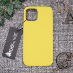 iPhone 12/12 Pro bagside silikone, Gul