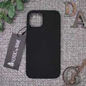 iPhone 12 Mini bagside silikone, Sort