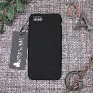 iPhone 7/8/SE 2020 bagside silikone, Sort