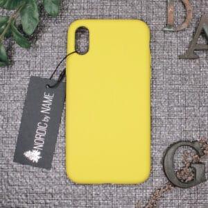 iPhone X/XS bagside silikone, Gul