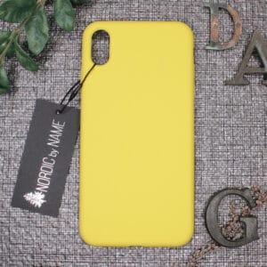 iPhone XS Max bagside silikone, Gul