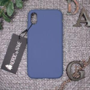 iPhone X/XS bagside silikone, Blå