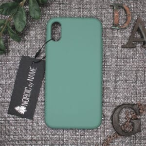 iPhone X/XS bagside silikone, Lys Petroleum
