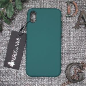 iPhone X/XS bagside silikone, Mørk Petroleum