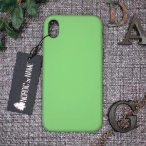 iPhone XR bagside silikone, Grøn