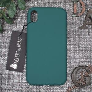 iPhone XR bagside silikone, Mørk Petroleum