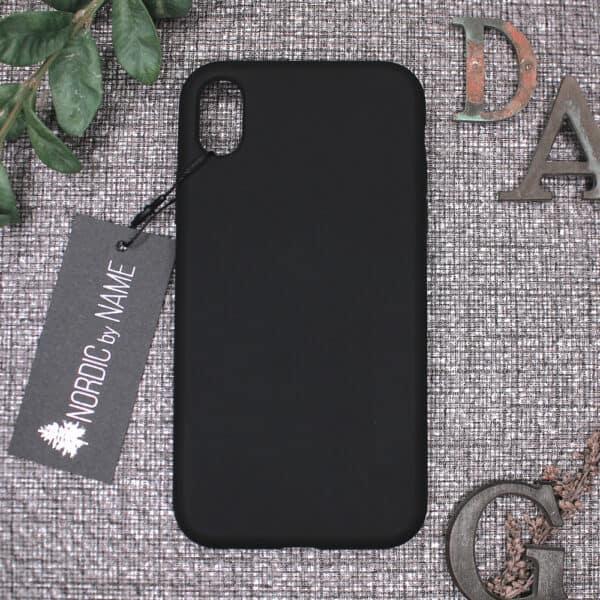 iPhone XR bagside silikone, Sort