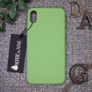 iPhone XS Max bagside silikone, Grøn