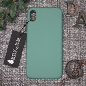 iPhone XS Max bagside silikone, Lys Petroleum