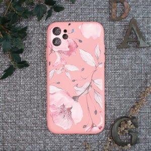 iPhone 11 bagside silikone, Blomster