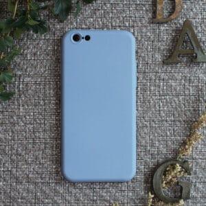 iPhone 6/6S bagside silikone, lyseblå