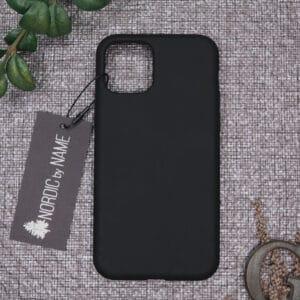 iPhone 11 Pro Max bagside silikone, Sort