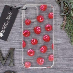 iPhone 12/12 Pro, Transparent, Hindbær