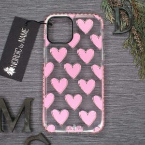 iPhone 12 Mini, Transparent, Hjerter