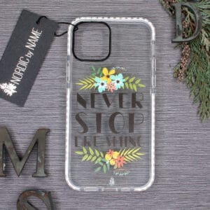 iPhone 12 Mini, Transparent, Never Stop