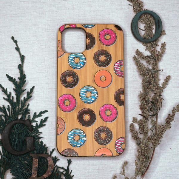 iPhone 11 bagside i træ, Donuts