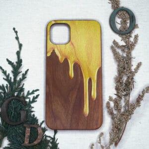 iPhone 11 Pro bagside i træ, Guld