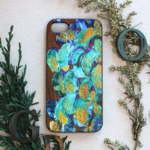 iPhone 7/8/SE 2020 bagside i træ, abstrakt