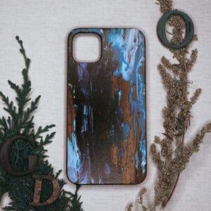 iPhone 11 bagside i træ, Blå