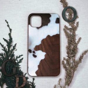 iPhone 11 Pro bagside i træ, Ko