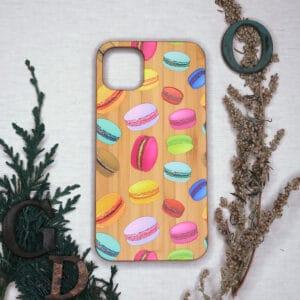 iPhone 11 bagside i træ, Macarons