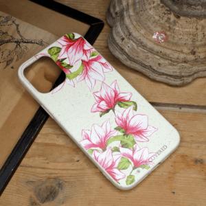 iPhone 12/12 Pro - Pink & Grønne Blomster